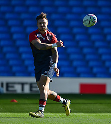 Jack Nowell of England passes the ball - Mandatory byline: Patrick Khachfe/JMP - 07966 386802 - 09/10/2015 - RUGBY UNION - Manchester City Stadium - Manchester, England - England Captain's Run - Rugby World Cup 2015.