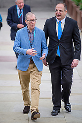 © Licensed to London News Pictures. 02/10/2017. Manchester, UK. PHILIP MAY, husband of British prime minister Theresa May,  seen at the second day of the Conservative Party Conference. The four day event is expected to focus heavily on Brexit, with the British prime minister hoping to dampen rumours of a leadership challenge. Photo credit: Ben Cawthra/LNP