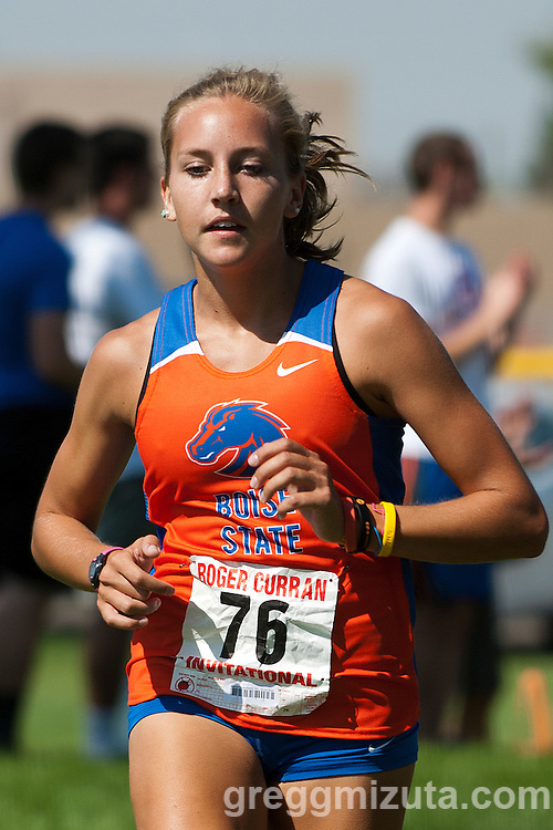 Boise State sophomore Marisa VanderMalle during the collegiate race at the Roger Curran Invitational at West Park in Nampa, Idaho on September 8, 2012.  VanderMalle finished second in the 4k race with a time of 14:29.27.