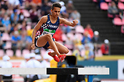 Ibrahim Oussaa (FRA) competes in 3000 Metres Steeplechase Men during the IAAF World U20 Championships 2018 at Tampere in Finland, Day 3, on July 12, 2018 - Photo Julien Crosnier / KMSP / ProSportsImages / DPPI