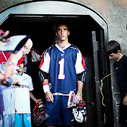 Will Manny #1 of the Boston Cannons gets ready to take the field prior to the game at Harvard Stadium on August 9, 2014 in Boston, Massachusetts. (Photo by Elan Kawesch)