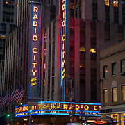 Radio City music hall. New York City, NY.USA.