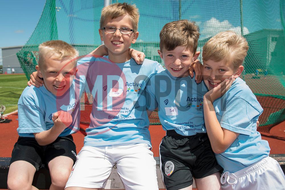 Children pose for a photo - Photo mandatory by-line: Dougie Allward/JMP - Mobile: 07966 386802 - 06/06/2015 - SPORT - Multi-Sport - Bristol - SGS Wise Campus - Bristol Sport Festival Of Youth Sport - Festival Of Youth