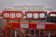 Corporate Marketing Suite and construction paraphenalia. .