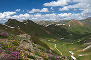 View of Turtle Mountain from California Pass, Colorado. Elevation of California Pass is 12,930.