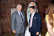 SIR EVELYN DE ROTHSCHILD;  CYRUS VANDREVALA;   The launch party for Elephant Parade hosted at the house of  Jan Mol. Covent Garden. London. 23 June 2009.
