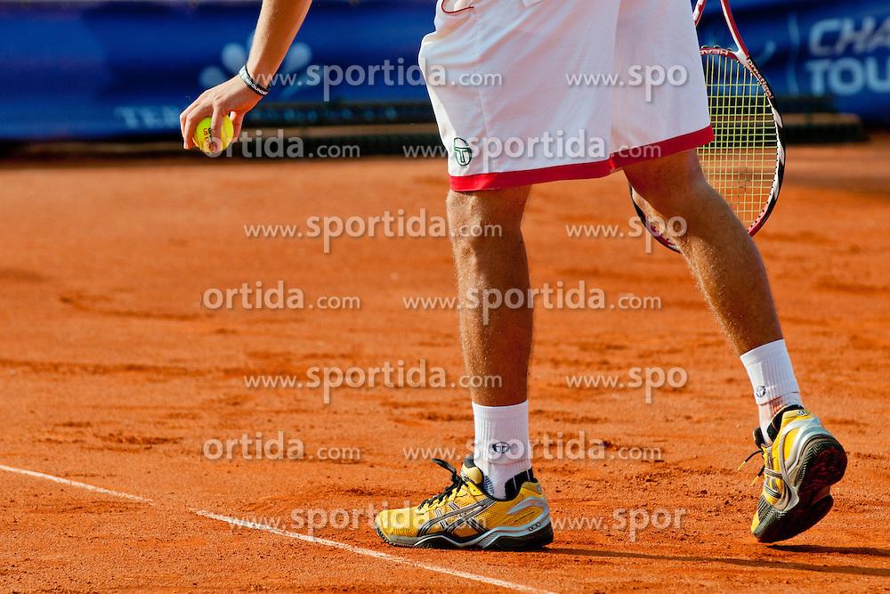 Aljaz Bedene of Slovenia plays during day five of the ATP Challenger Tour BMW Ljubljana Open 2011, on September 23, 2011, in TC Ljubljana Siska, Ljubljana, Slovenia. (Photo by Matic Klansek Velej / Sportida)