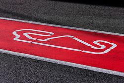 February 18, 2019 - Montmelo, BARCELONA, Spain - Circuit de Catalunya Barcelona logo during the Formula 1 2019 Pre-Season Tests at Circuit de Barcelona - Catalunya in Montmelo, Spain on February 18. (Credit Image: © AFP7 via ZUMA Wire)