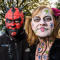 REPRO FREE<br /> Donal Small and Michelle Maloney from Kinsale pictured at this years Kinsale Halloween parade.<br /> Picture. John Allen
