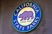 California State Park sign, Andrew Molera State Park, Big Sur, California