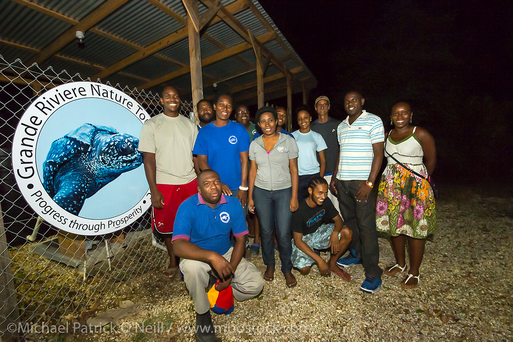Members of the Grande Riviere Nature Tour Guide Association, a non-profit, community based organization, specialized in turtle protection, environmental conservation, awareness and Eco-tourism within the village of Grande Riviere and surrounding area. Members help protect nesting Leatherback Sea Turtles and promote the sustainable development in the region.