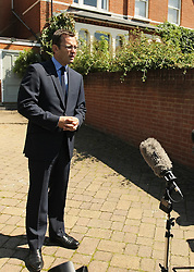 Andy Coulson, former Government Director of Communications leaves his home in London, Tuesday 24th July 2012 . Photo by: i-Images