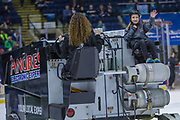 KELOWNA, CANADA - FEBRUARY 20:  Orchard Park Zamboni Rider at the Kelowna Rockets game on February 20, 2018 at Prospera Place in Kelowna, British Columbia, Canada.  (Photo By Cindy Rogers/Nyasa Photography,  *** Local Caption ***