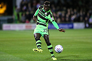 Forest Green Rovers Toni Gomes(25) plays the ball forward during the EFL Sky Bet League 2 match between Forest Green Rovers and Swindon Town at the New Lawn, Forest Green, United Kingdom on 22 September 2017. Photo by Shane Healey.