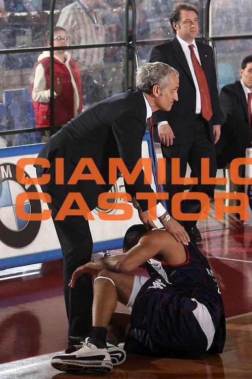 DESCRIZIONE : Biella Lega A1 2007-08 Angelico Biella Snaidero Udine<br /> GIOCATORE : Cesare Pancotto B J Elder<br /> SQUADRA : Snaidero Udine Angelico Biella<br /> EVENTO : Campionato Lega A1 2007-2008<br /> GARA : Angelico Biella Snaidero Udine<br /> DATA : 05/04/2008<br /> CATEGORIA : Curiosita<br /> SPORT : Pallacanestro<br /> AUTORE : Agenzia Ciamillo-Castoria/S.Ceretti