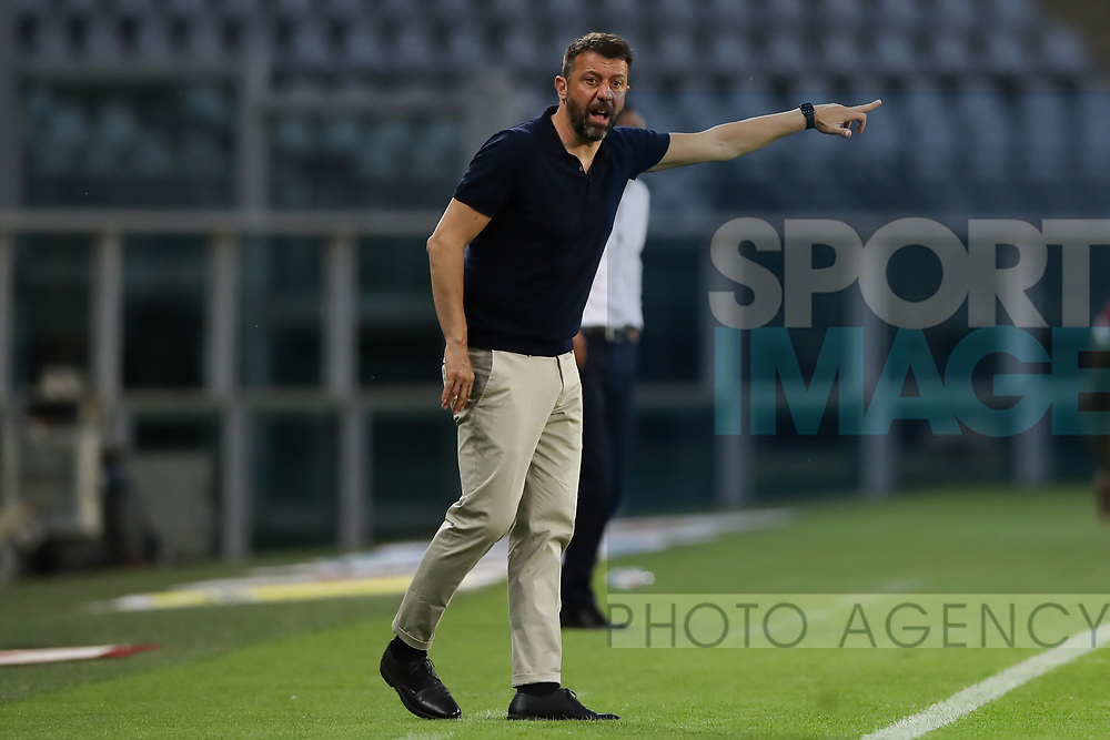 Parma Calcio's Italian Head coach Roberto D'Aversa reacts during the Serie A match at Stadio Grande Torino, Turin. Picture date: 20th June 2020. Picture credit should read: Jonathan Moscrop/Sportimage