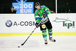 Luka Logar of Olimpija during ice-hockey match between HDD Tilia Olimpija and EC Red Bull Salzburg in EBEL league, on January 10, 2016 at Hala Tivoli, Ljubljana, Slovenia. Photo by Morgan Kristan / Sportida