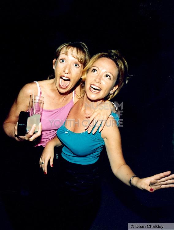 Happy clubbers Ibiza 1999
