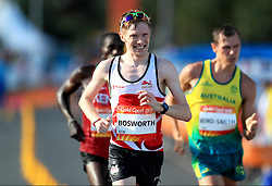 England's Tom Bosworth competes in the Men's 20km Race Walk Final at Currumbin Beachfront during day four of the 2018 Commonwealth Games in the Gold Coast, Australia.