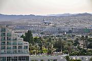 Israel, Eilat airport. Israir plane landing