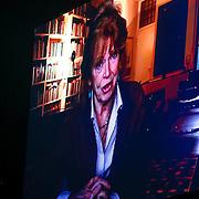 NLD/Amsterdam/20121117 - Danny de Munk 30 jaar in het vak, videoboodschap van Sonja Barend voor de jubilerende Danny