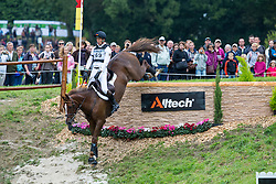 Dirk Schrade, (GER), Hop And Skip - Eventing Cross Country test - Alltech FEI World Equestrian Games™ 2014 - Normandy, France.<br /> © Hippo Foto Team - Leanjo de Koster<br /> 30/08/14