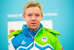 Jaka Dvornik during presentation of Slovenian Young Athletes before departure to EYOF (European Youth Olympic Festival) in Vorarlberg and Liechtenstein, on January 21, 2015 in Bled, Slovenia. Photo by Vid Ponikvar / Sportida