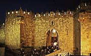 Herod's gate in the wall of Old City Jerusalem