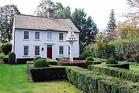 Traditional house, garden, Main Street, Essex Village, Connecticut, USA, 201110185298.<br /> <br /> Copyright Image from Victor Patterson, 54 Dorchester Park, Belfast, UK, BT9 6RJ<br /> <br /> t1: +44 28 9066 1296 (from Rep of Ireland 048 9066 1296)<br /> t2: +44 28 9002 2446 (from Rep of Ireland 048 9002 2446)<br /> m: +44 7802 353836<br /> <br /> victorpatterson@me.com<br /> www.victorpatterson.com<br /> <br /> Please see my Terms and Conditions of Use at victorpatterson.com . It is IMPORTANT that you familiarise yourself with them.<br /> <br /> Images used on the Internet incur an additional cost and must be visibly watermarked i.e. ©Victor Patterson within the body of the image and copyright metadata must not be deleted. Images used on the Internet have a size restriction of 4kbs and are chargeable at rates available at victorpatterson.com.<br /> <br /> This image is only available for the use of the download recipient i.e. television station, newspaper, magazine, book publisher, etc, and must not be passed on to any third party. It is also downloaded on condition that each and every usage is notified within 7 days to victorpatterson@me.com<br /> <br /> The right of Victor Patterson to be identified as the author is asserted in accordance with The Copyright Designs And Patents Act (1988). All moral rights are asserted.