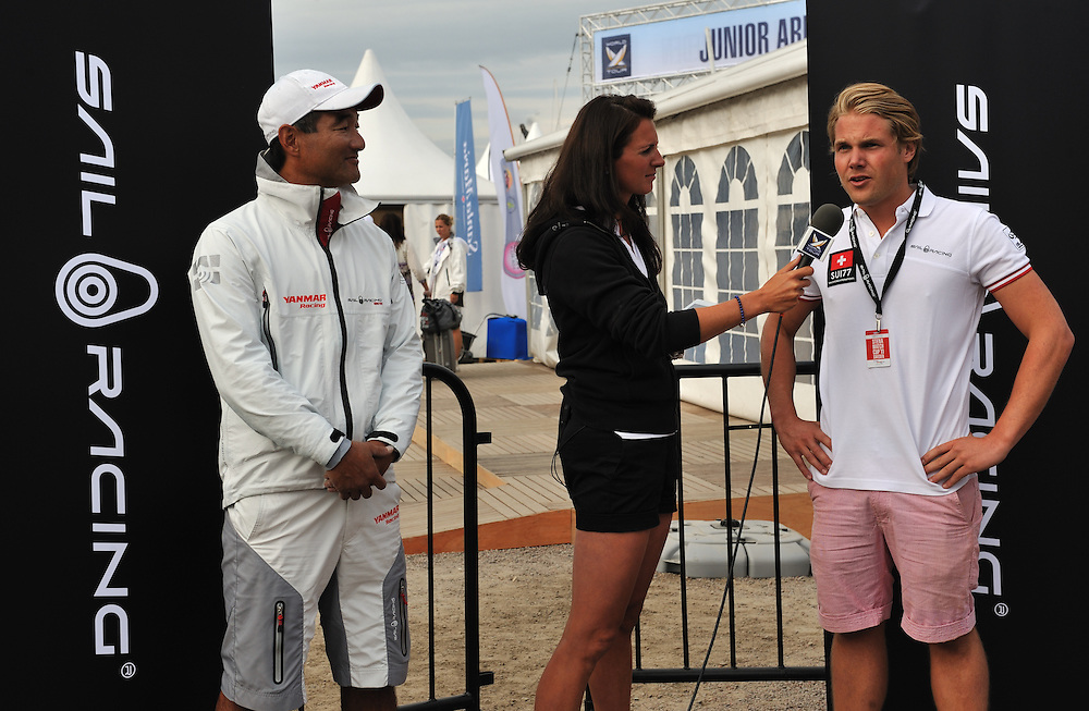 Hannah White interviews Joakim Berne from Sail Racing. Photo: Chris Davies/WMRT