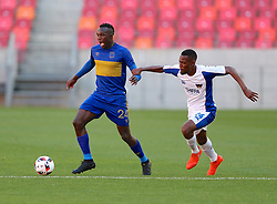 Sibusiso Masina of Cape Town City (L) and Diamond Thopola of Chippa United during the 2016 Premier Soccer League match between Chippa United and Cape Town City held at the Nelson Mandela Bay Stadium in Port Elizabeth, South Africa on the 19th November  2016.<br /> <br /> Photo by:   Richard Huggard / Real Time Images