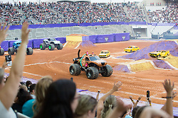 December 16, 2017 - Sao Paulo, Sao Paulo, Brazil - Scooby-Doo in action during a round of racing. Monster Jam was held at Corinthians Stadium, in Sao Paulo, Brazil. (Credit Image: © Paulo Lopes via ZUMA Wire)