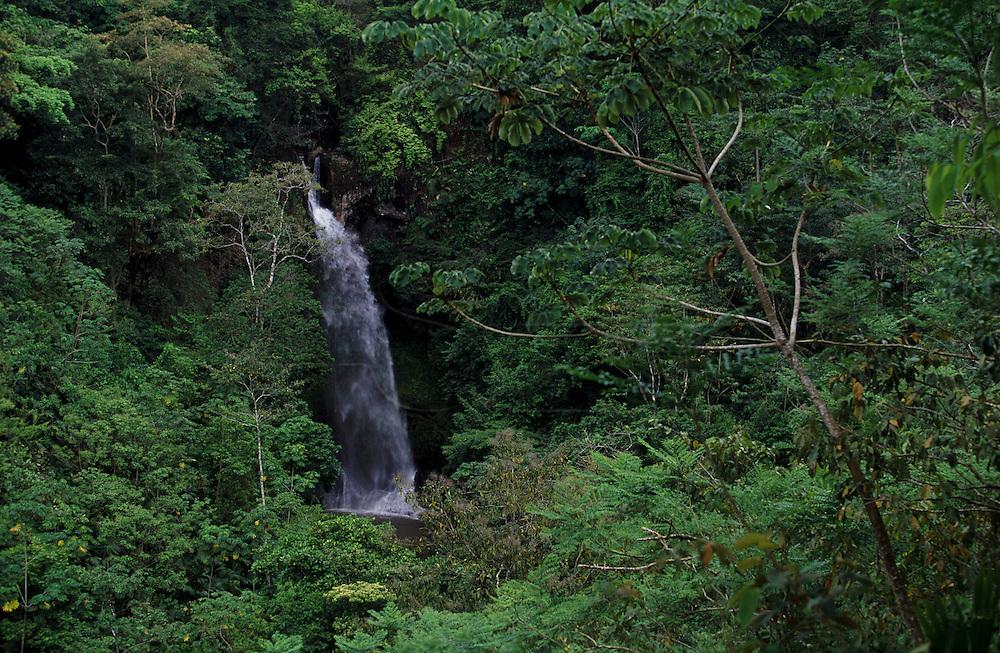 A waterfall in Cerro Punta in Panama.