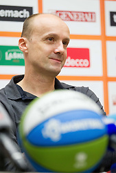 Press conference of KZS when was Jure Zdovc presented as a new head coach of Slovenia basketball team on January 15, 2014 in Hotel Plaza,  Ljubljana, Slovenia. Photo by Vid Ponikvar / Sportida