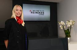 Heineken Lounge hostess' pose for a photo at the entrance - Mandatory byline: Dougie Allward/JMP - 07966386802 - 15/08/2015 - FOOTBALL - Ashton Gate -Bristol,England - Bristol City v Brentford - Sky Bet Championship
