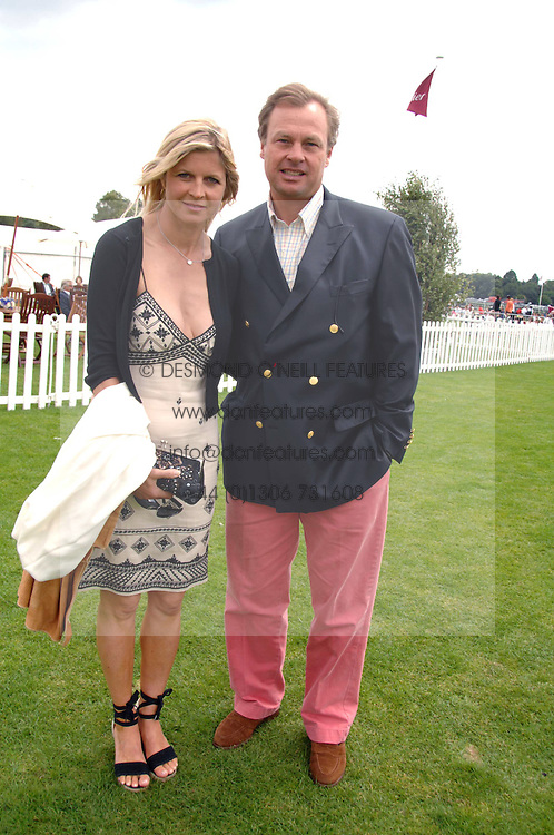 The MARQUESS & MARCHIONESS OF MILFORD HAVEN at the Cartier International polo at Guards Polo Club, Windsor Great Park on 29th July 2007.<br />