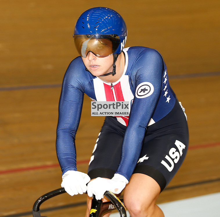 UCI Track Cycling World Cup Glasgow 4th - 6th November 2016. Mandy Marquardt in the qualifying session for Women's sprint .....(c) STEPHEN LAWSON | SportPix.org.uk