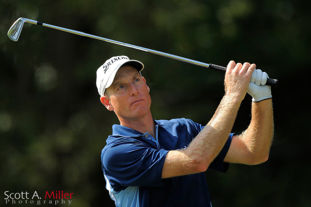 Jim Furyk (USA) tees off on the 11th hole during the first round of the PGA Tour Championship at East Lake Golf Club on Sept. 24, 2009 in Decatur, Ga.     ..©2009 Scott A. Miller