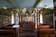 Famous St. Benedict's Painted Church overlooking Kealakekua Bay.