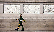 Military policeman in Tian'an Men Square, Beijing, China