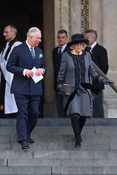 The Duke and Duchess of Cornwall attending the Grenfell Tower National Memorial Service, at St Paul's Cathedral in London, which marked the six month anniversary of the Grenfell Tower fire. Picture date: Thursday December 14th, 2017. Photo credit should read: Matt Crossick/ EMPICS Entertainment.