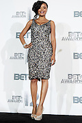 June 30, 2012-Los Angeles, CA : Actress Erica Hubbard attends the 2012 BET Awards- Media Room held at the Shrine Auditorium on July 1, 2012 in Los Angeles. The BET Awards were established in 2001 by the Black Entertainment Television network to celebrate African Americans and other minorities in music, acting, sports, and other fields of entertainment over the past year. The awards are presented annually, and they are broadcast live on BET. (Photo by Terrence Jennings)