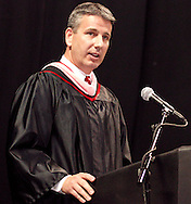 Principal Scott Butler during the 142nd annual Lebanon High School commencement at the Nutter Center in Fairborn, Saturday, May 26, 2012.
