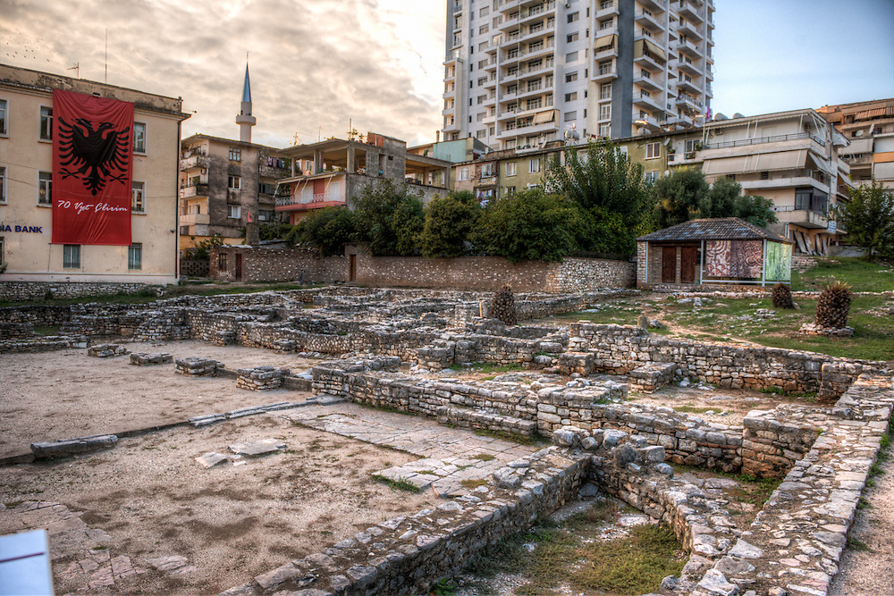 Ruins of synagogue in Saranda