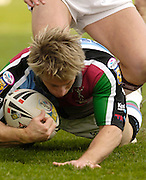Twickenham, Surrey, ENGLAND, 29.04.2006, Mark McLinden, the ball, during the Super League match Quins RL vs Huddersfield Giants, at The Stoop,  © Peter Spurrier/Intersport-images.com,Rugby League .