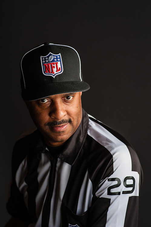 BOWIE, MD -- JULY 29, 2015: Adrian Hill is an NFL Field Judge. Profile for Just Asking
