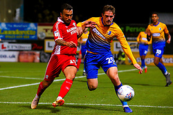 Clayton Lewis of Scunthorpe United and Timi Max Elsnik of Mansfield Town - Mandatory by-line: Ryan Crockett/JMP - 13/11/2018 - FOOTBALL - One Call Stadium - Mansfield, England - Mansfield Town v Scunthorpe United - Checkatrade Trophy