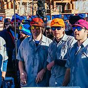 Team Teton Village Sports competing during the 2015 Gelande Quaff.