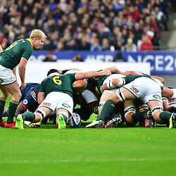 A scrum during the test match between France and South Africa at Stade de France on November 18, 2017 in Paris, France. (Photo by Dave Winter/Icon Sport)