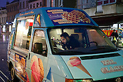 Ice cream truck at Brussels' Molenbeek neighbourhood, a hotbed of Islamic fundamentalism.